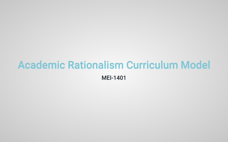 academic rationalism curriculum model